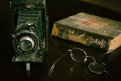 Old things (ZenonasM) Tags: old things camera book broken glasses