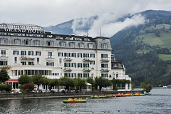 GRAND HOTEL (Fayo0rah) Tags: austria zurich landscape green lake water swarovski stone nikon d810 810 hotel rain cloud zellamsee zell am see