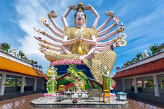 Statue der Guanyin (BBQMaster_CGN) Tags: thailand samui koh thai statue religion tempel temple tempelanlage guanyin der nuan na ram farben colors colours