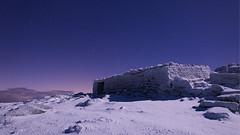 Bothy (Ian JonesMorris) Tags: cader idris mountain snow ice dolgellau gwynedd snowdonia moonlight summit cold bothy