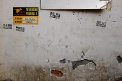 2860 miles since (lille abe) Tags: chengdu china street wall cracks shape dog sticker kangaroo repetition minimal michal pachniewski fuji