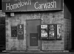 Coin Operated (arbyreed) Tags: arbyreed monochrome blackandwhite bw carwash localcarwash coinoperatedcarwash grungy textured utahcountyutah