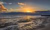 Holes In The Cloud (nicklucas2) Tags: seascape beach sea sand pebble cloud sunset southbourne