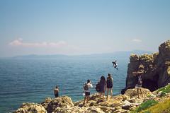 (themighteeduck) Tags: aegean aegeansea greece lesvos mytilini island cliffdiving