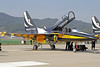 "Republic of Korea Air Force Black Eagles KAI T-50B ""Golden Eagle"" 10-0057 SSN 17-10-17 (Axel J. ✈ Aviation Photography) Tags: republicofkoreaairforce kai t50 goldeneagle 100057 ssn sinchonriairbase seouladex2017 seoul seongnam flugzeug luftfahrt fluggesellschaft flughafen flugplatz aircraft aeroplane aviation airline airport airfield 飞机 vliegtuig 飛機 飛行機 비행기 самолет avião luchthaven luchtvaart avion aeropuerto aviación aviação aviones jet linienflugzeug vorfeld apron taxiway rollweg runway startbahn landebahn outdoor planespotter planespotting spotter spotting fracht cargo military militaer fighter kampfflugzeug blackeagles 공군 airforce forcaaerea armeedel´air aviaciónmilitar ejércitodelaire"