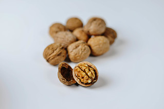 Autumn Walnuts on a white background