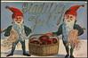 163. Glædelig Jul! (National Library of Norway) Tags: nasjonalbiblioteket nationallibraryofnorway postkort postcards julekort julenek jul nisseluer christmas christianmagnus christmascards nisser juleskinke mattradisjoner
