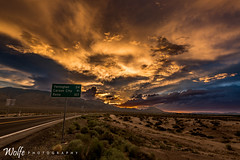 Getting there (Aaron_Smith_Wolfe_Photography) Tags: streetsign nevada