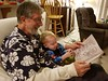 "Reading ""monsters"" with Dziadzi (quinn.anya) Tags: paul toddler sesamestreet dziadzi tom book reading grandfather"