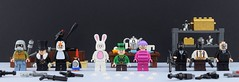 Goons of Gotham part 3 (Alex THELEGOFAN) Tags: lego blackmask madhatter legography minifigure minifig minifigures minifigurine minifigs minifigurines movie dc comics villain villains batman black mask the penguin mad hatter bank tea guns weapons goons henchmen henchman goon bunny cat