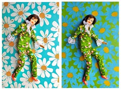 PARTNERS IN PRINT (ModBarbieLover) Tags: casey doll mod fashion 1967 sears pantsuit flowers impressionist lace 60s tnt francie mattel barbie