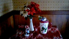 Christmas time is comin'!! (Maenette1) Tags: kitchen christmas decorations flowers cup carolers menominee uppermichigan flicker365 michiganfavorites