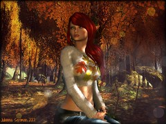 First Fall (JuliannaSeriman) Tags: redhead julianna juliannaseriman lelutka ikon slink doe secondlife holidayfeasthunt huntsl huntinsecondlife huntprize whimsical whimsicalsecondlife justjuli secondlifefashion bye arcticstorm conchrepublic