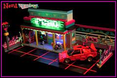 "NERDVEMBER 2017 - ARCADE (""Orion Pax"") Tags: nerdvember 80s bricknerd transformers lamborgini arcade art popart driveradiobe countach"