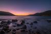 Wavy sea at twilight (Vagelis Pikoulas) Tags: porto germeno greece winter december 2017 sea seascape landscape blue hour longexposure rocks rock view twilight