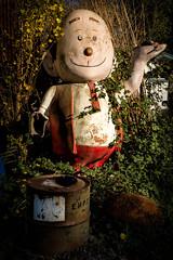 Egg Head (atenpo) Tags: patrick amiot brigitte laurent sebastopol gravenstein sonoma county folk art sculpture urban junk recycled ca california nishi gallery