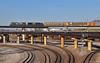 "Westbound Autorack Train in Kansas City, MO (""Righteous"" Grant G.) Tags: csx csxt bnsf railway railroad locomotive train trains west westbound ge power kansas city missouri flyover bridge kct"