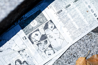 Sex comic in newspaper