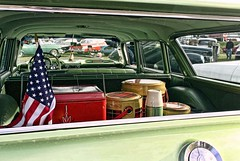Picnic Time (~ Liberty Images) Tags: classiccar chevy chevrolet nomad greencar stationwagon automobile libertyimages