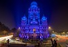 Municipal Corporation Of Greater Mumbai (Kostas Trovas) Tags: longexposure blue tripod color city india night building mumbai architecture 6dm2 canon selectionfromindiatrip municipalcorporationofgreatermumbai light