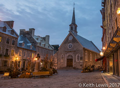 Place Royale in Quebec very early morning (keithhull) Tags: placeroyale petitchamplain notredamedesvictoires quebeccity quebec canada historic nightshot explore