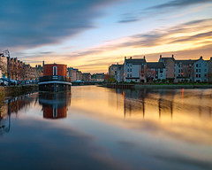 Colourful sunset at the Shore (Thanks for all the likes and comments) (MilesGrayPhotography (AnimalsBeforeHumans)) Tags: 1635 fe1635mm sonyfe1635mmf4zaoss 10stopper architecture auldreekie autumn a7ii britain bridge boats ship city cityscape dusk edinburgh europe evening fe f4 glow golden historic harbour iconic ilce7m2 landscape lens longexposure leith le nd nighfall nd1000 nd30 outdoors oss photography photo tranquil reflections river scotland sky skyline scenic sunset sunshine sunlight sonya7ii sony sonyflickraward town twilight uk unitedkingdom village victoriaswingbridge waterscape wide water waterofleith zeiss