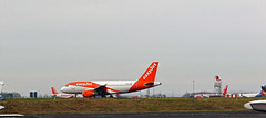 EASYJET TAXIING  AT NEWCASTLE (toowoomba surfer) Tags: airline airliner jet aeroplane ncl egnt
