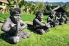 In Munduk, Bali (Lady Clementine) Tags: indonesia bali munduk musician sculpture