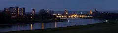 Dresden, Skyline (rengawfalo) Tags: dresden skyline sachsen saxony germany deutschland blauestunde brücke bridge albertbrücke barock frauenkirche fluss elbe river nacht