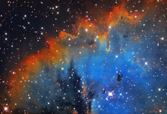 NGC 281 (Pac-Man Nebula) narrowband (Remidone) Tags: nebula astrophoto astronomy nightsky pacman ngc281 hubblepallette halpha oiii sii astro space astrometrydotnet:id=nova2346234 astrometrydotnet:status=solved