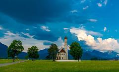 Bavaria (Jon Ariel) Tags: hohenschwangau bayern bavaria church alps alpen germany deutschland stcoloman schwangau