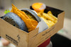 """""""You Might Get Addicted"""" (stratman² (2 many pix!)) Tags: canonphotography eos7dmarkii tamronspaf1750mmf28diiivc foodphotography charcoal bun burger awesomeness delicious shallowdof bokeh doubletrouble awesomefries myburgerlab"""