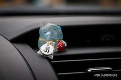 Lucky Kitten (Pablo Arrigoni) Tags: japón japan japanese japonés car auto viaje trip kyoto asia asian carin color colors colores colours small pequeño canon eos eos70d 18135 daylight day nice bokeh toyota pryus hybrid