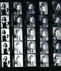 Lisa Philadelphia Studio Photo Shoot Kodak TMY 35mm B&W Contact Sheet Proof Print July 1995 IMG_0013 (photographer695) Tags: lisa philadelphia studio photo shoot kodak tmy 35mm bw contact sheet proof print july 1995