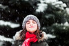 (Rebecca812) Tags: girl child winter snow enjoyment eyesclosed wonder joy snowing outdoors evergreentrees snowybranches wintercoat knithat cute beauty childhood tween canon eyelashes snowflakes scarf red green people portrait rebeccanelson rebecca812