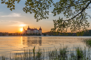 Evening at Castle Moritzburg