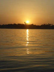 Sunset (Aidan McRae Thomson) Tags: nile river egypt sunset water light