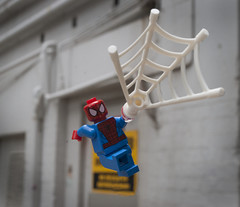 Spins a Web Anytime! (Ben Cossy) Tags: lego super hero marvel comic comics spiderman spider man peter parker web legography