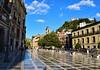 Sunlight on Plaza Nueva (Jocelyn777) Tags: architecture monuments square plaza pavement pavementreflections granada andalucia spain travel
