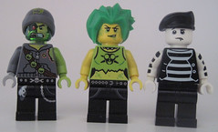 Puke, Toxanne, Drainbo (Quickblade22) Tags: superpowers supervillains comics comicbook custom brickforge