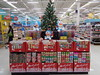 doreamon and christmas decorations at our supermarket (the foreign photographer - ฝรั่งถ่) Tags: doraemon christmas xmas decorations for sale tesco lotus supermarket laksi bangkhen bangkok thailand sony