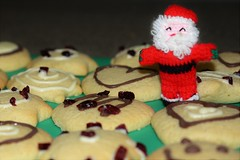 Santa's Cookies! (suekelly52) Tags: biscuits cookies food santa toy knitting