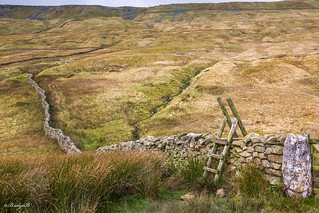 wall and style on Whernside.