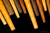 Chopstick tips (mdcaptures) Tags: wood bamboo utensil wooden closeup stick grain sticks macromondays lowkey tip japanese macro 7dwf black food backgrounf chinese chopstick