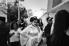 dod 09862 (m.r. nelson) Tags: dayofthedead diadelosmuertosmesa az arizona southwest usa mrnelson marknelson markinaz blackwhite bw monochrome blackandwhite bwartphotography portraits peopledíadelosmuertosfestivalmesa2017