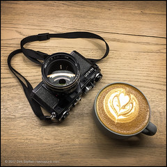 camera and coffee (teknopunk.com) Tags: photography camerabodytag r 50f11nikkornsn141112 rff nineelements nikonsp2005sn0274 novem gear cameraandcoffee iphone6splus c nipponkogaku