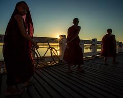 Crossing the U Bein Bridge (Amarapura, Myanmar 2013) (Alex Stoen) Tags: 1dx alexstoen alexstoenphotography burma canon canoneos1dx geotagged mandalay myanmar natgeo nationalgeographicexpeditions portrait travel vacation yangon mynmar