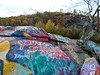"Message from Planet Earth, ""You're Running out of TIME."" (brooksbos) Tags: brooks brooksbos quincy graffiti art public rocks cliff tree quarries quarry lg g6 lgg6 android smartphone"