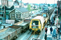 Reigate 17 October 1976 (snatmann) Tags: crossing level reigate possession engineers theurer und plasser