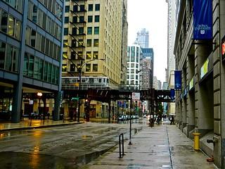 Rainy Chicago Street